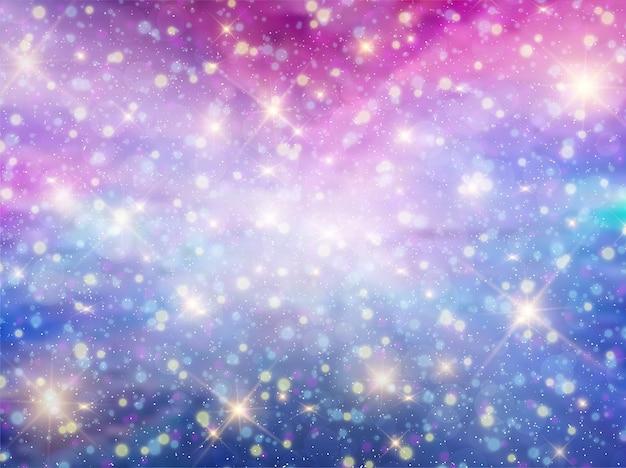 Fondo de galaxia pastel fantasía cielo nocturno