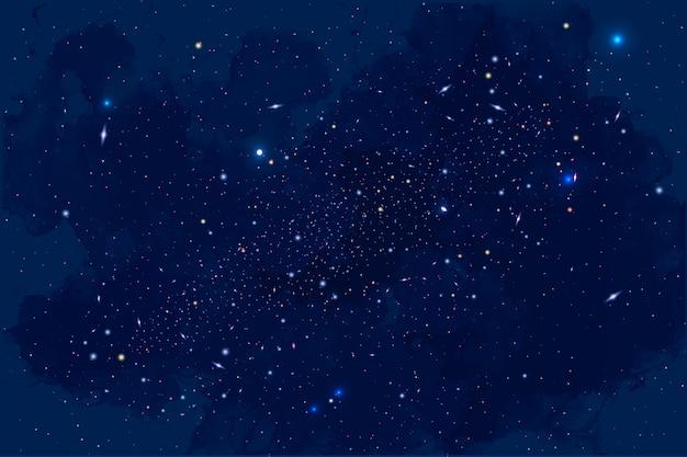 Fondo de galaxia, sol, planetas y estrellas