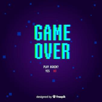 Fondo game over con distorisión