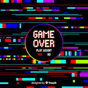 Fondo game over con distorisión