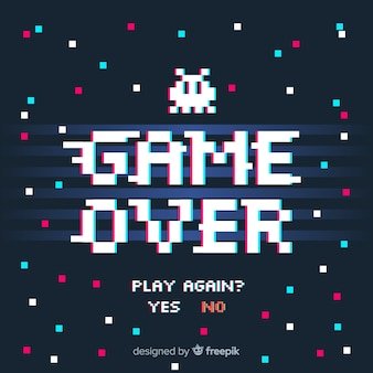 Fondo de game over con fallo técnico