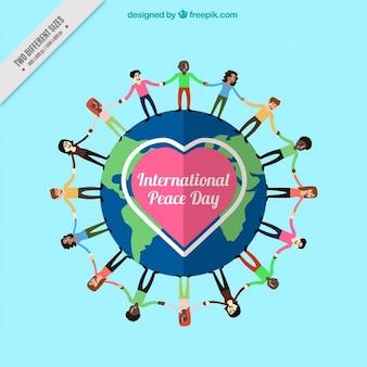 Fondo de gente alrededor del mundo por la paz