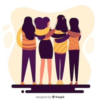 Fondo gente joven abrazándose
