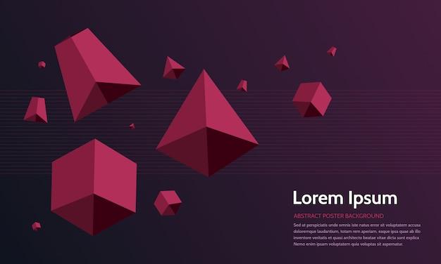Fondo geométrico 3d abstracto