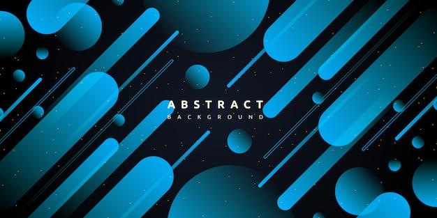 Fondo geométrico abstracto azul degradado formas
