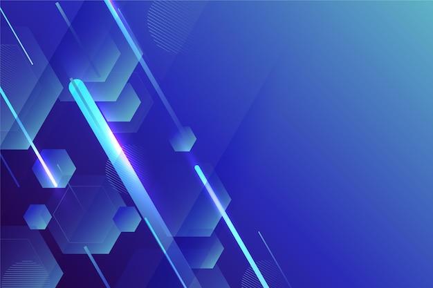 Fondo geométrico abstracto azul degradado