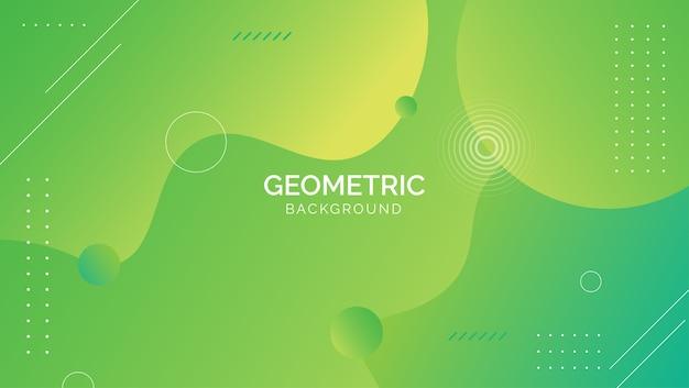 Fondo geométrico abstracto azul verde degradado