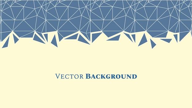 Fondo geométrico abstracto de baja poli con triángulos en colores azules y espacio para texto. textura de mosaico. ilustración vectorial.
