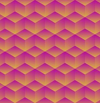 Fondo geométrico abstracto con cubos. ilustración