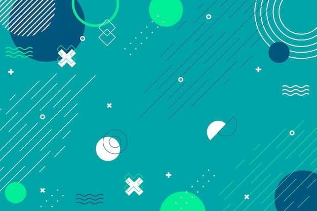 Fondo geométrico abstracto de diseño plano