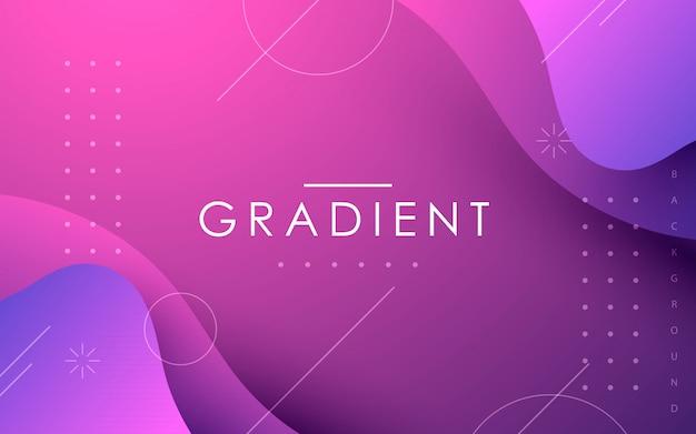 Fondo geométrico abstracto de forma fluida gradiente