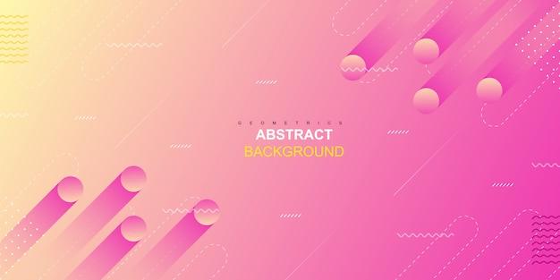 Fondo geométrico abstracto de formas rosadas