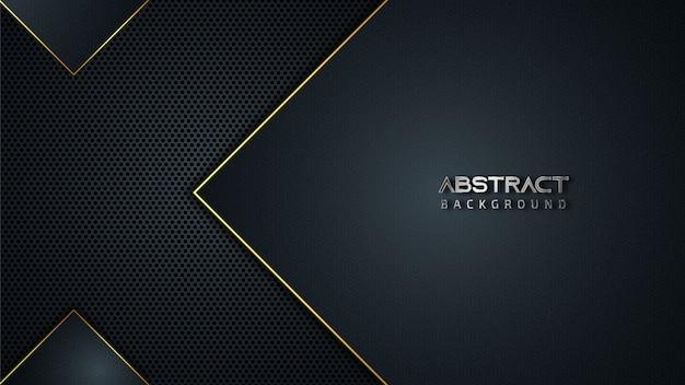Fondo geométrico abstracto con líneas doradas