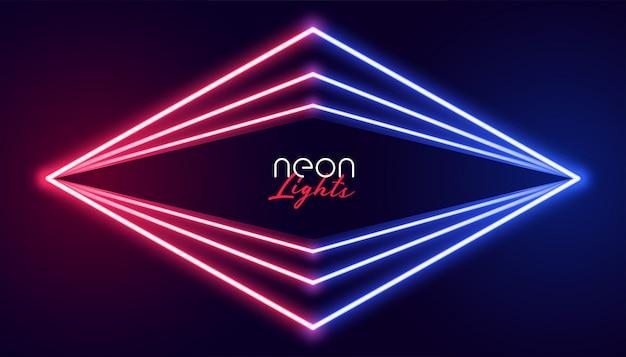 Fondo geométrico abstracto de las luces de neón