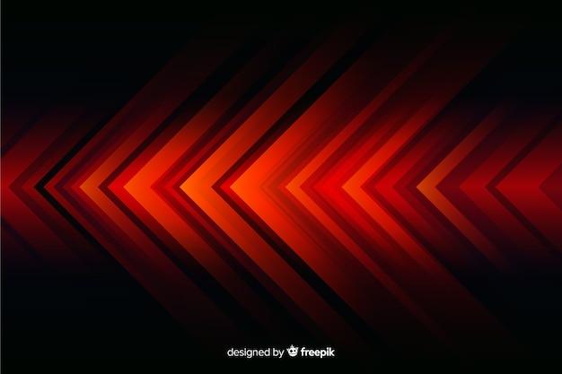 Fondo geométrico abstracto de las luces rojas