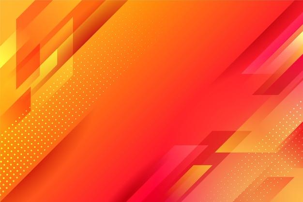 Fondo geométrico abstracto naranja