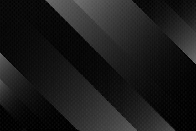 Fondo geométrico abstracto negro ilustración vectorial