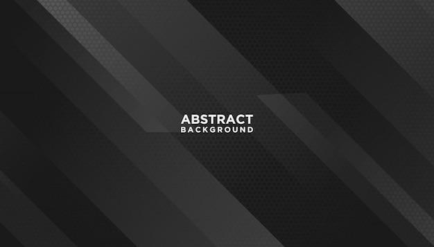 Fondo geométrico abstracto negro