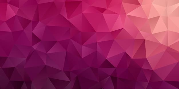Fondo geométrico abstracto. papel pintado de triángulo polígono en color rosa morado. patrón