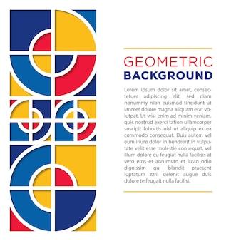 Fondo geométrico abstracto de papercut con plantilla de texto