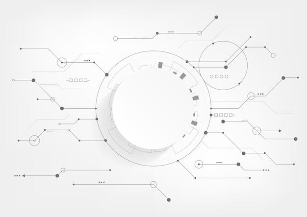 Fondo geométrico abstracto con placa de circuito