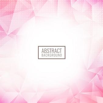 Fondo geométrico abstracto del polígono rosa