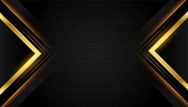 Fondo geométrico abstracto premium negro y oro