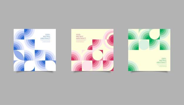Fondo geométrico abstracto para publicación en redes sociales.