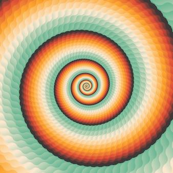 Fondo geométrico abstracto del remolino concéntrico