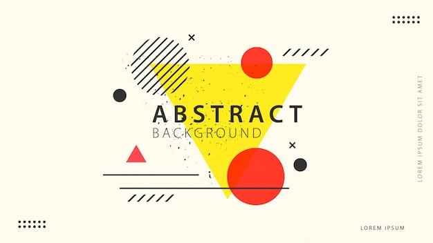 Fondo geométrico abstracto retro