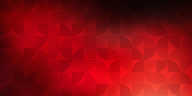 Fondo geométrico abstracto rojo