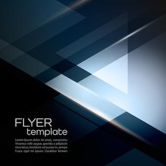 Fondo geométrico abstracto con triángulo