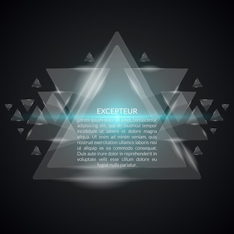 Fondo geométrico abstracto con triángulos. forma moderna, plantilla de patrón,