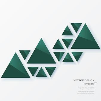 Fondo geométrico abstracto con triángulos verdes