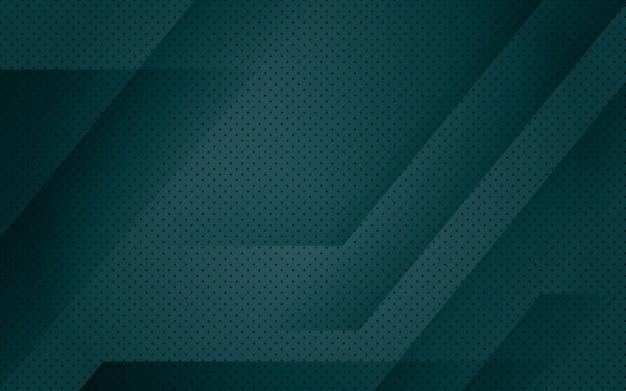 Fondo geométrico abstracto verde oscuro