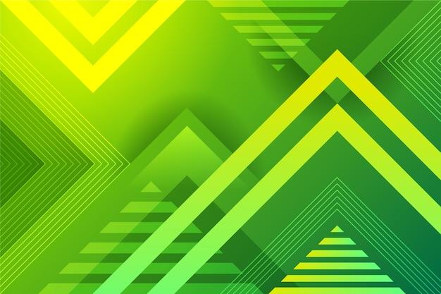 Fondo geométrico abstracto verde