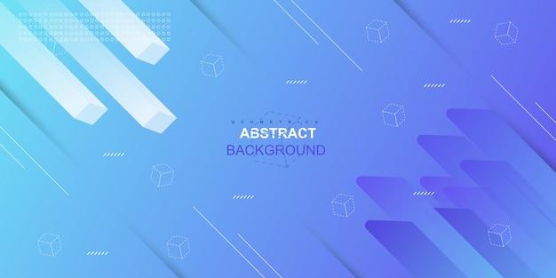 Fondo geométrico azul degradado abstracto