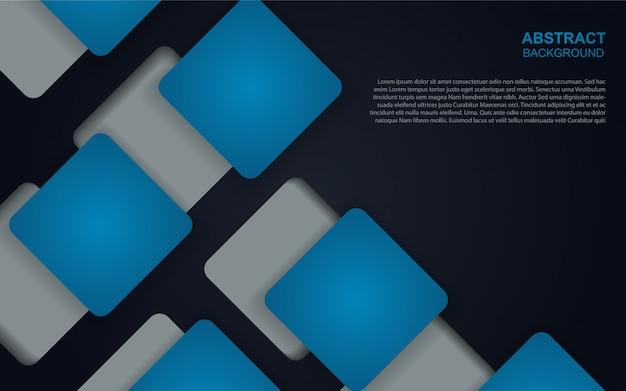 Fondo geométrico azul oscuro abstracto