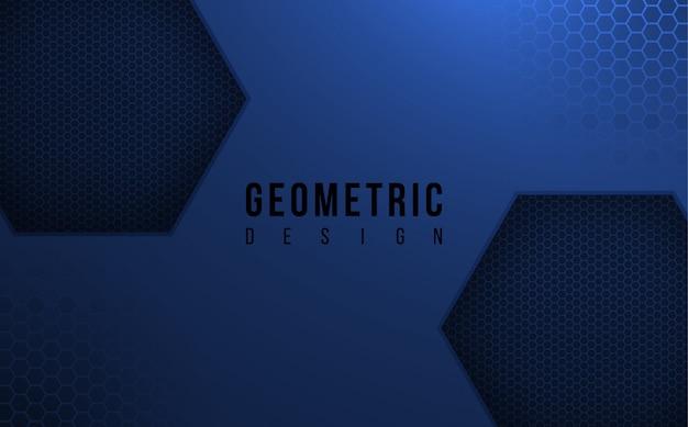 Fondo geométrico azul oscuro