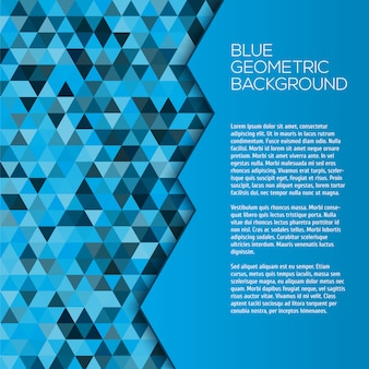 Fondo geométrico azul con triángulos