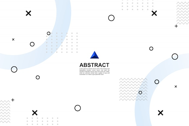 Fondo geométrico blanco moderno abstracto