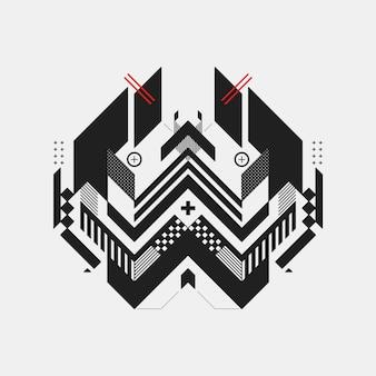 Fondo geométrico en blanco y negro