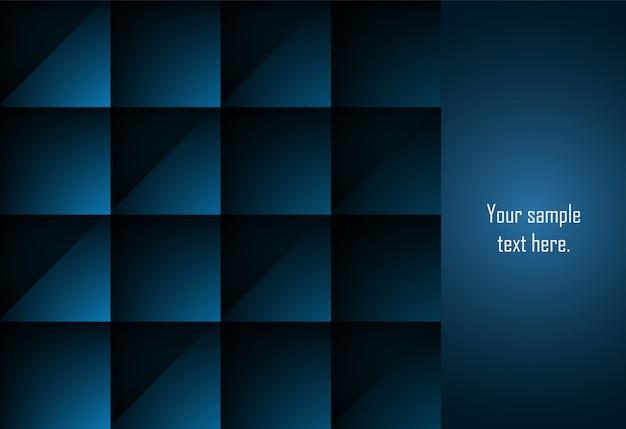 Fondo geométrico de la capa abstracta azul