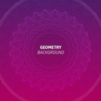 Fondo geométrico circular dinámico rojo