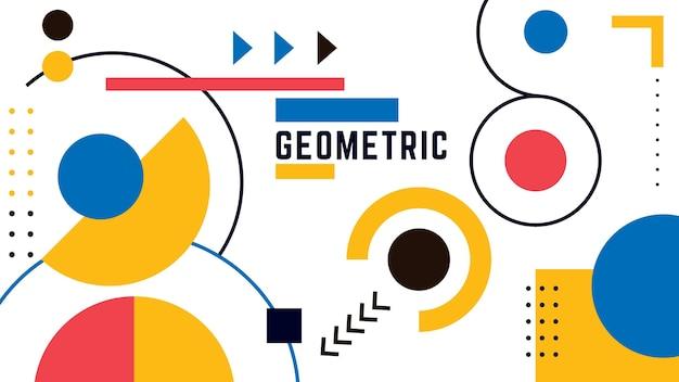 Fondo geométrico con círculos