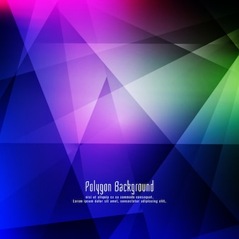 Fondo geométrico colorido con estilo abstracto