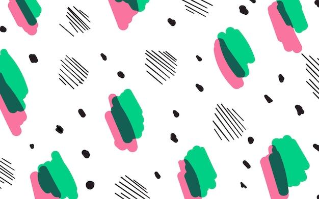 Fondo geométrico colorido del estilo de memphis