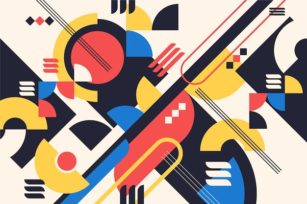 Fondo geométrico colorido con formas abstractas