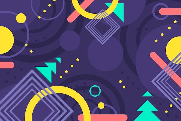 Fondo geométrico colorido plano