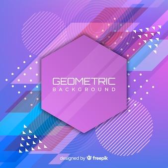 Fondo geométrico colorido